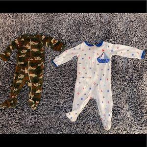 EUC 2 Baby Boy Wonder Nation Sleepers. 3-6 Months